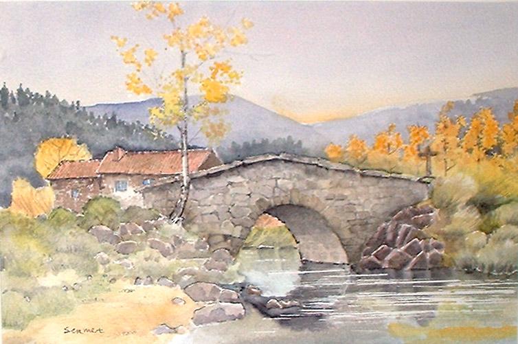 peintre sermet, peinture, paysages provence, auvergne, fleurs ...